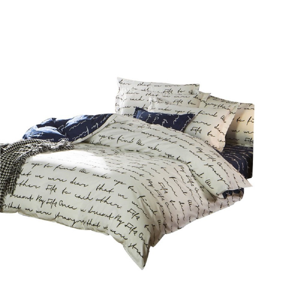 modern queen bedding promotionshop for promotional modern queen  - winlife love letter bed set girls bedding set boys bedroom set modernbedding set twin full queen duvet cover with pillow shams