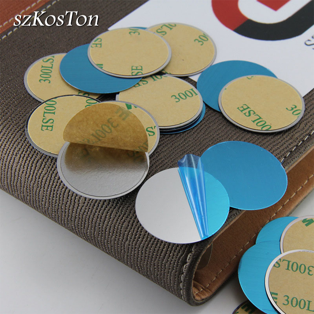 10pcs/5pcs/1pcs/lot Metal Plate Disk Iron Sheet For Magnet Phone Holder Metal Plate Replacement For Magnetic Car Phone Holder