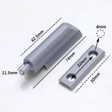 ABS Plastic Gray Kitchen Cabinet Door Stop Drawer Soft Quiet Close Closer  Damper Buffers With Screws
