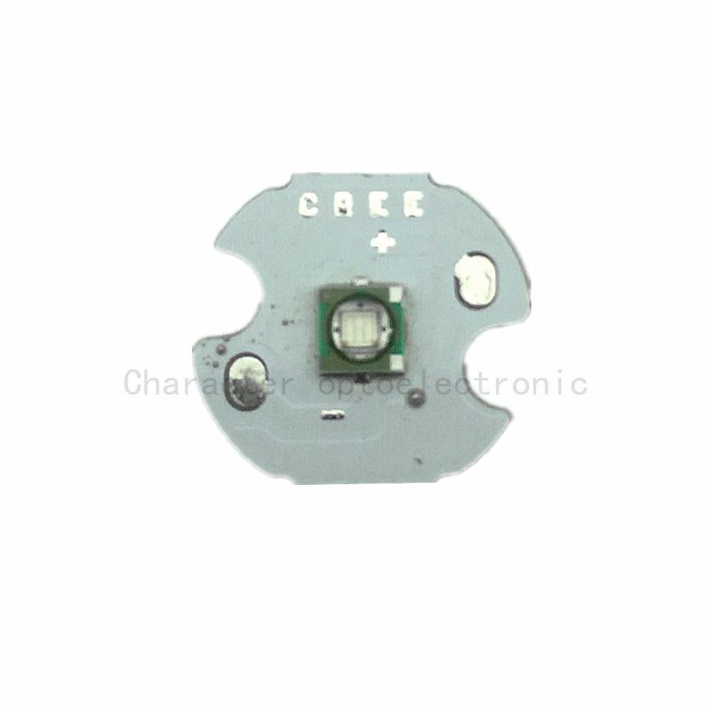 Купить с кэшбэком 5PCS LED CREE XPE R3 Chip 3W High Power light XP-E 520-525 Green LED Lamp with 20/16/14/12/10/8MM  PCB heatsink