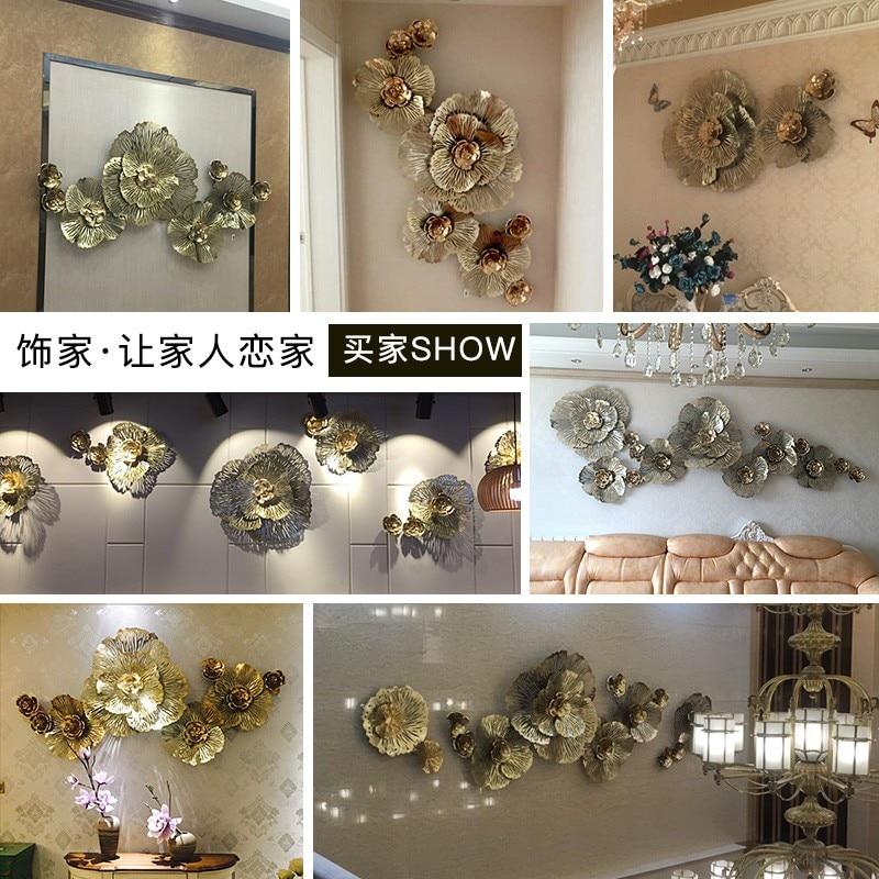 Европейское настенное украшение, настенное украшение, стерео железное украшение стены, Пион цветок, креативное домашнее украшение Стены