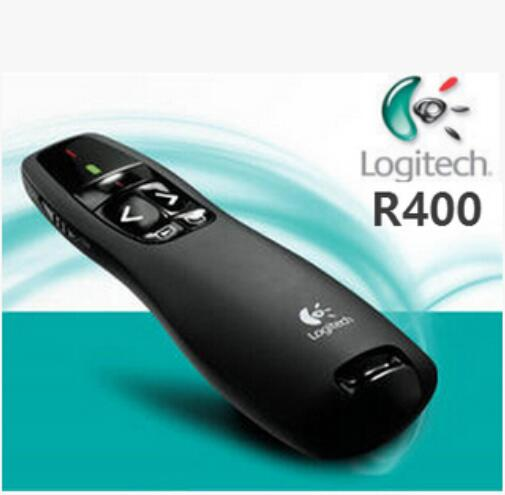 Wholesale / Retail Logitech R400 laser pointer, 2.4 GHz Wireless Presenter R400, LED red laser,usb lazer pen teaching image