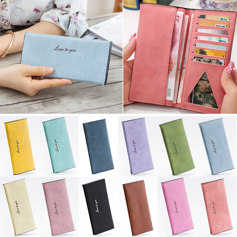 Hot Sale Women Fashion Purse Big Capacity Long Wallets Popular Ladies Girls PU Leather Clutch Bags Cards Holder Wallet LT88