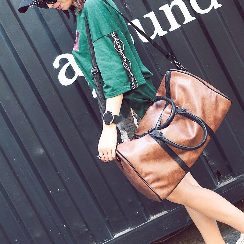 PU läder resväskan snygga kvinnor casual handväska män resväskor - Väskor för bagage och resor - Foto 6