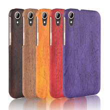 For HTC Desire 830 Case Hard PC+PU Leather Retro wood grain Phone Cover Luxury Wood D830