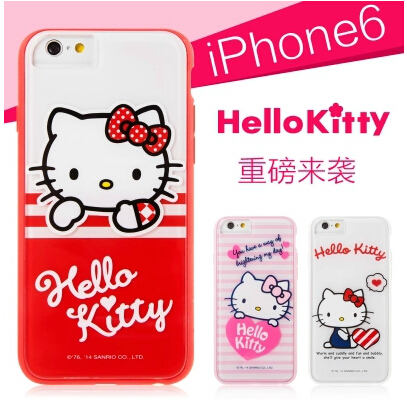 7ed8f472d HOT x-doria for iphone 6 Plus inch 5.5 Katie cartoon Hello Kitty Colorful  fashion pretty cute for apple 6 plus Phone Case