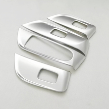 For Mercedes Benz E Class 2016 2017 2018 ABS Matte Door and window glass lifting switch Trim Cover car styling 4pcs sktoo for kia sportage r window lifter switch assembly with the mirror fold the left front door glass levelers switch with high