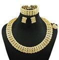 Jóias indiano dubai banhado a ouro jóias moda feminina colar conjuntos de jóias finas 24 k conjuntos de jóias de ouro