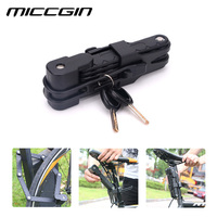 Universal Folding Bicycle Lock Steel Bike Lock Security Cable Lock Anti Theft Combination Riding Tool for Mountain Bike