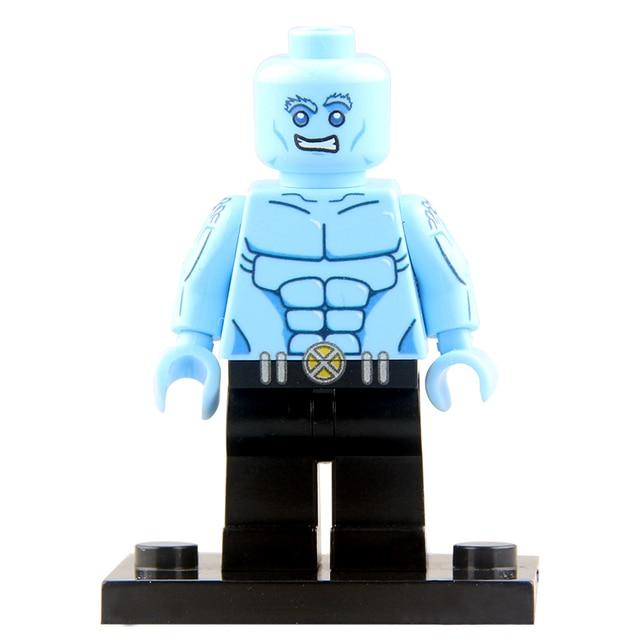 US $0 9 8% OFF|Iceman Movie Dolls Single Legoing Marvel X Men Apocalypse  Avengers Super Heroes Building Bricks Collection Gift For Children-in  Blocks