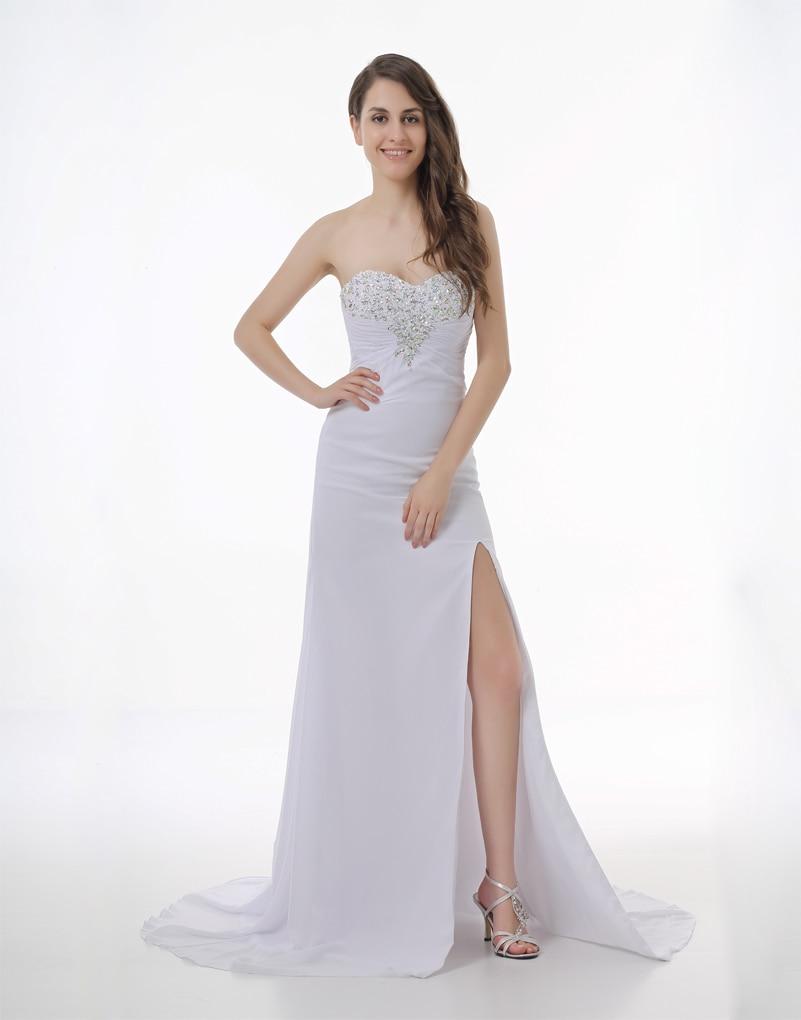 Popular Long White Formal Dresses for Juniors-Buy Cheap Long White ...