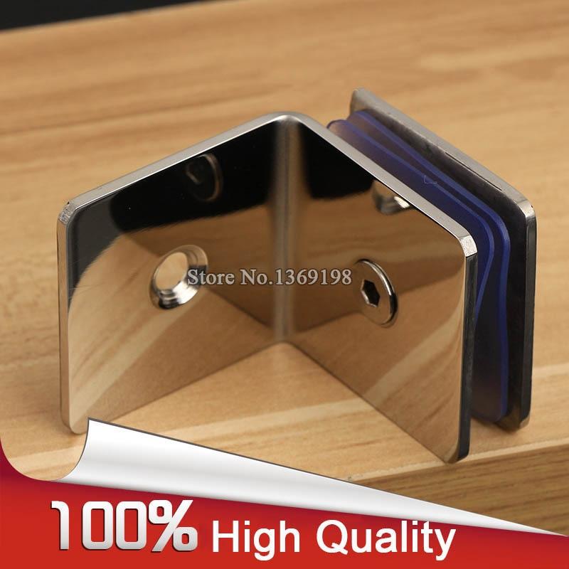 ¡Nuevo! 2 unids/lote 304 bisagras de puerta de cristal para ducha de baño sin marco de acero inoxidable