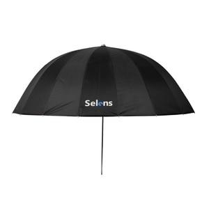 "Image 2 - Selens 65 ""165 cm Parabolic עמוק רעיוני מטריית כסף צבע עבור Speedlite סטודיו תאורה עקיפה w/נשיאת תיק"