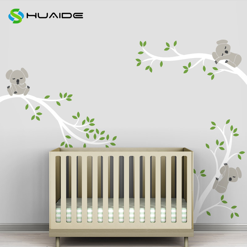 Aliexpress.com : Buy Koala Tree Branches Baby Nursery Wall Decal Pastel  Colors Baby Decor Vinyl Mural Wall Sticker For Kids Room DIY Wall Art A 29  From ... Part 33