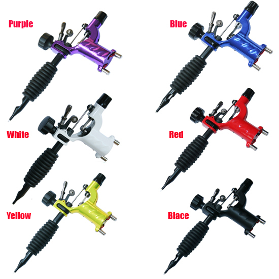 Dragonfly Rotary Tattoo Machine Shader & Liner 7 Colors Assorted Tatoo Motor Gun Kits Supply For Artists