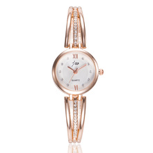 JW Ladies Watch Luxury Brand Rose Gold Stainless Steel Wrist Watches For Women Crystal Jewelry Bracelet Quartz Watch Clock Women 2017 hot sale brand women men s clock luxury stainless steel watches crystal analog quartz bracelet wrist watch m19