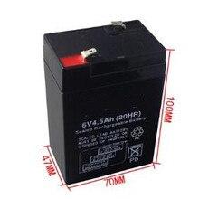 6V 4.5AH свинцово-кислотная батарея аккумуляторная батарея аварийного светильник батарея