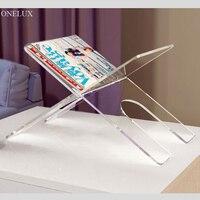 Flat Packed Acrylic Newspaper Tray Holder Plexiglass Magazine Rack Desktop Lucite Book Stand