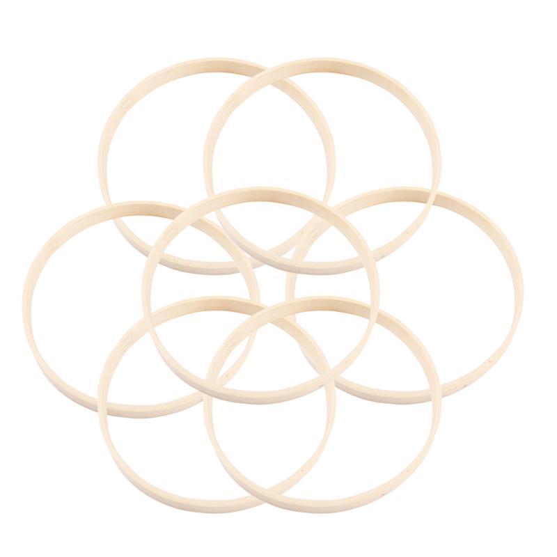 10 peças 15cm 20cm 23cm 26cm, diâmetro sonho, coletor, anéis macrame, argola de artesanato, acessório diy redondo argola de bambu de madeira ferramentas diy, artesanato