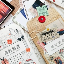 100Pcs/pack Vintage Sticker Scrapbooking Pack Creative DIY Bullet Journal Decorative Adhesive Label Material Stationery Supplies цены онлайн