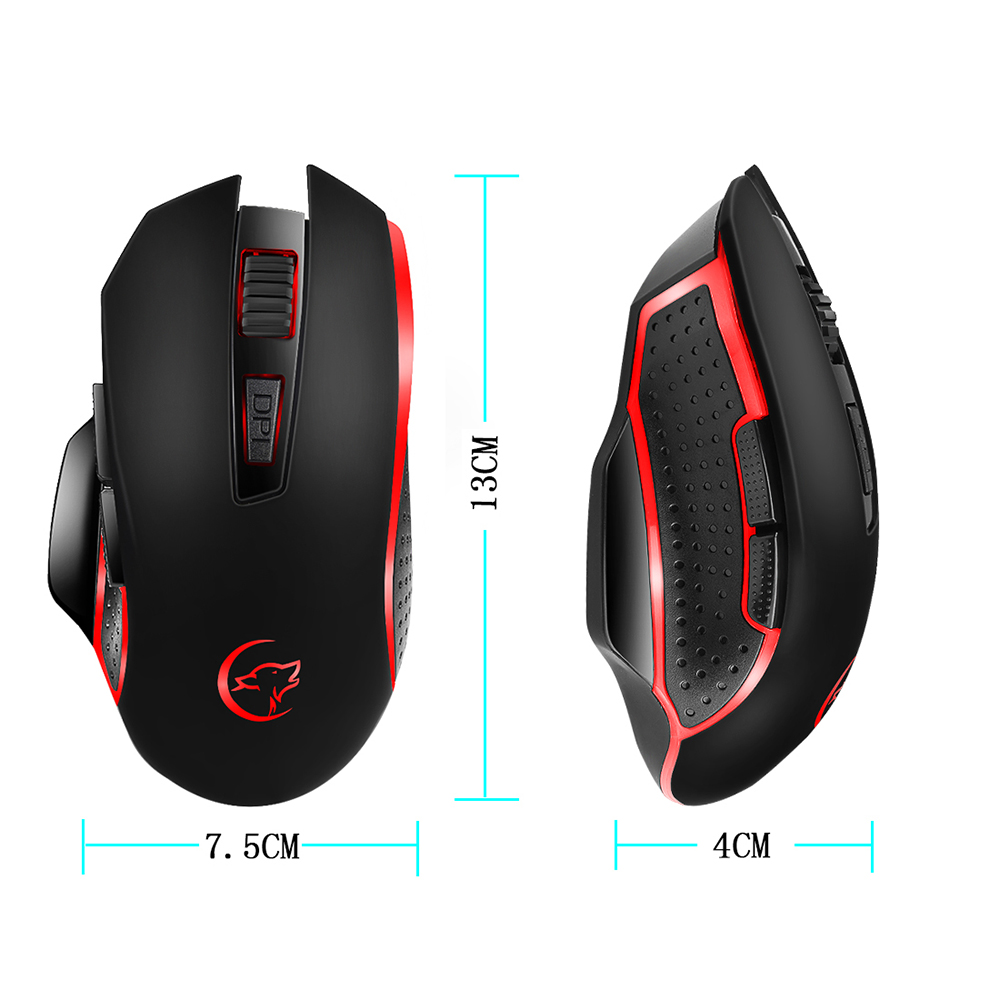 G821 Gaming Mouse Rechargeable Wireless Mouse Adjustable 2400DPI Optical  Computer 2 4Hz Mice for PC Laptop For LOL Dota 2