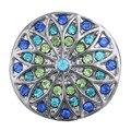 2 Pçs/lote 18 MM Botão Snap Jóias DIY Retro Padrão Cristal Botão de Pressão Gengibre Encantos Fit Mulheres Snap Pulseira Jóias ZA304