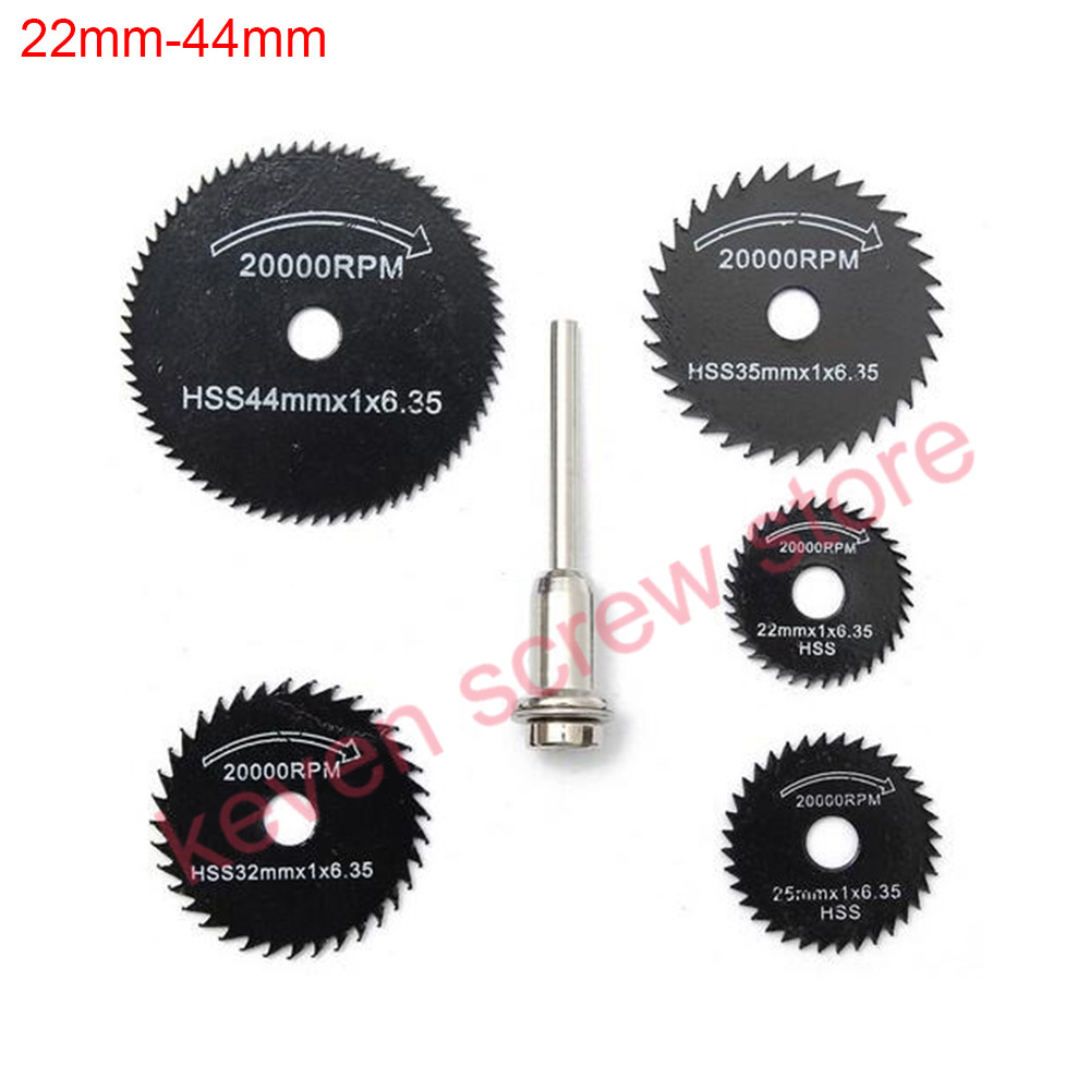 5pcs/lots HSS Circular Saw Blade High Speed Steel Mini Drill Rotary Tool Cutting Disc For Metal Wood Cutter Disk Power Tools Set 6pcs hss routing wood rotary milling cutter high speed steel tool set for processing of metallic and non metallic surfaces