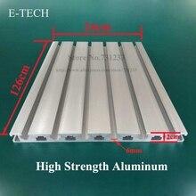 купить CNC Engraving Machine Hanging Board Aluminum Working Table Plate 60mm Thick High Strength Aluminum Profile 1260*240 mm по цене 5640.2 рублей
