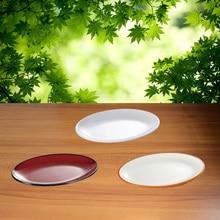 Melamine Tableware Dinnerd Plates Dishes 8 Inch Lumbar Shape Dish Fashionable Restaurant A5
