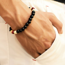 2017 New Fashion Mens Natural Wooden Beaded Root Chakra Jewery  & Hip Hop Beads Bracelets Buddha Word  Jewelry For Women Gifts