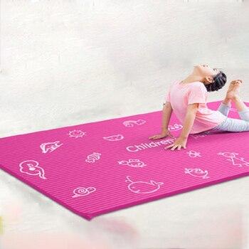 185*90 см * 10 мм детский коврик для йоги из бутадиен-нитрильного каучука нескользящий коврик для фитнеса детский танцевальный Тренировочный Ко...