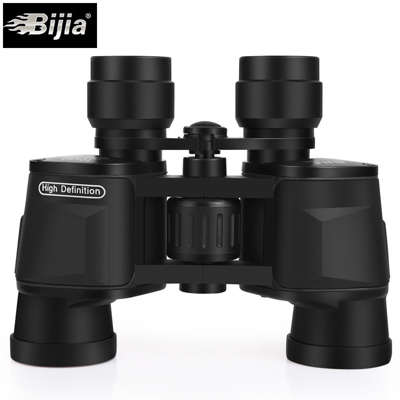 BIJIA Binoculars 10X40 Professional Hunting Telescope High Quality Big Clear Vision No Infrared Waterproof Binocular Black-in Monocular/Binoculars from Sports & Entertainment    1