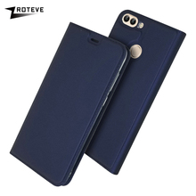 For Huawei P Smart Case Soft PU Stand Book Cover Card Slot Wallet Leather Flip Case For Huawei P Smart / Enjoy 7S Case Coque
