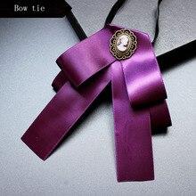 College style bow tie uniform Bowtie fashion badge solid color butterfly ties for men women cravate pour homme suits accessories