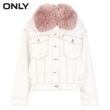 Jacket with Detachable Fur Collar 4