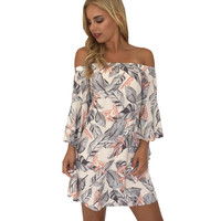 Women Summer Boho Evening Party Mini Dress Beach Dress Sundress Pring Summer Autumn Women Casual