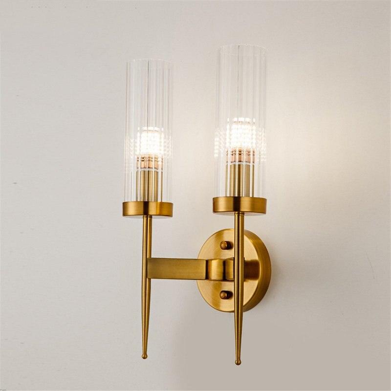 Пост современный золотой настенный светильник спальня кухня лестница Led настенное зеркало с подсветкой промышленный декор столовая Прихожая стекло освещение приспособление - 4