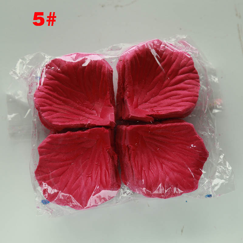 1000pcs Rose Petals Wedding Accessories Petalos De Rosa Wedding Decoration Artificial Fabric Wedding Rose Petals