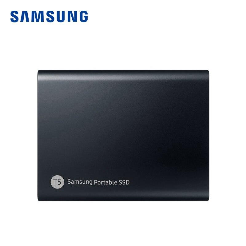 SAMSUNG Внешний SSD T5 USB3.1 USB3.0 250 ГБ 500 ГБ 1 ТБ жесткий диск внешние твердотельные диски HDD настольный ноутбук ПК disco duro