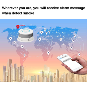 Image 2 - PSCBT GSM SMS كاشف الدخان جهاز إنذار حرائق حماية الاستشعار GSM بطاقة SIM رسالة الدخان إنذار رقم الهاتف كاشف الحريق
