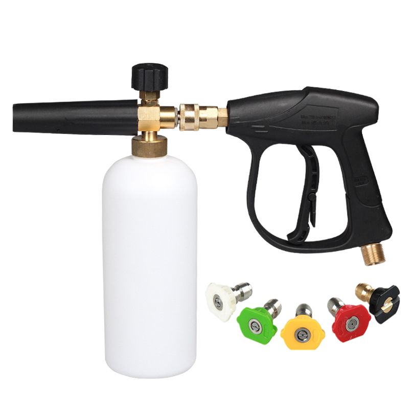 High Pressure Washer Gun Snow Foam Lance Foam Cannon Foam Generator Tornado With Water Sprayer Gun M22 Thread 4000 PSI Hot