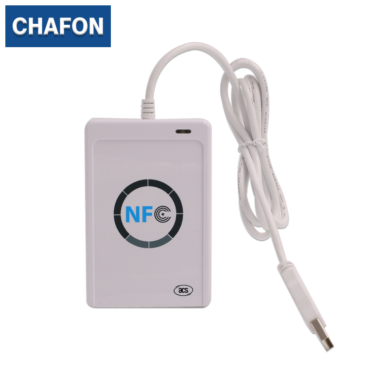 NFC Smart Card Reader Writer support ISO14443 A /B cards, FeliCa and NFC tags with 2pcs NFC Cards