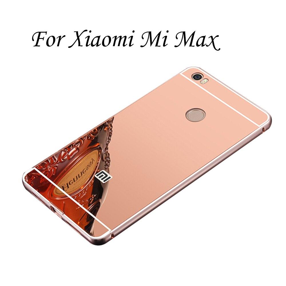 2 в 1 Алюминий металлический бампер съемный + Mi rror Жесткий Чехол Для Сяо Mi Max ультра тонкий рамки Coque принципиально крышка Mi Max