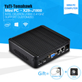 Mais novo Mini PC Computador Celeron J1800 2.41 GHz Dual Lan Industrial Thin Client Fanless Design Micro Windows7 os 2 * Lan