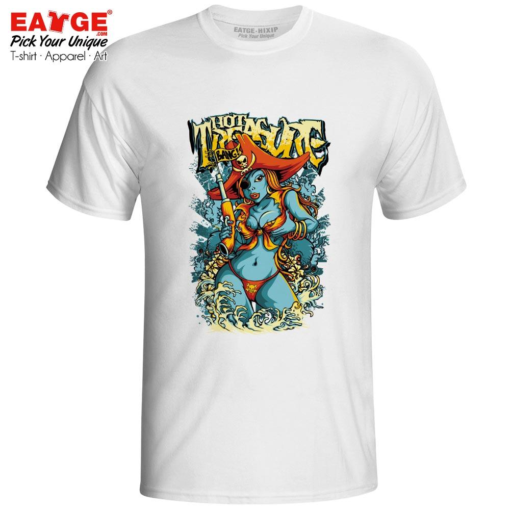 My Hot Treasure T-shirt Nubile Pirate Girl Creative Style Design T Shirt Print Cartoon Punk Active Women Men Top Tee