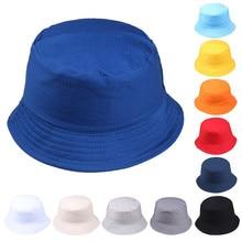 Bucket Hat for Women Men Unisex Fisherman Hats Fashion Wild Sun Protection Pure Color Sunbonnet Fedoras Outdoor Cap