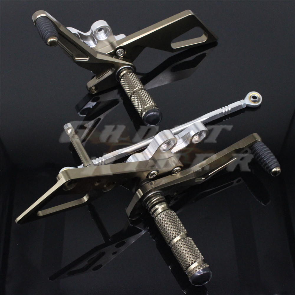 Adjustable CNC Rearset Rear set Foot Rest Pegs aluminum Rearset Rear Set CNC Foot Pegs Rest Footrest fits for YAMAHA YZF R15 201