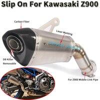 Слипоны для Kawasaki Z900 Ninja 900 2018 2019 20 мотоцикл Akrapovic выхлоп Escape модифицированный Средний патрубок трубы глушитель дБ убийца