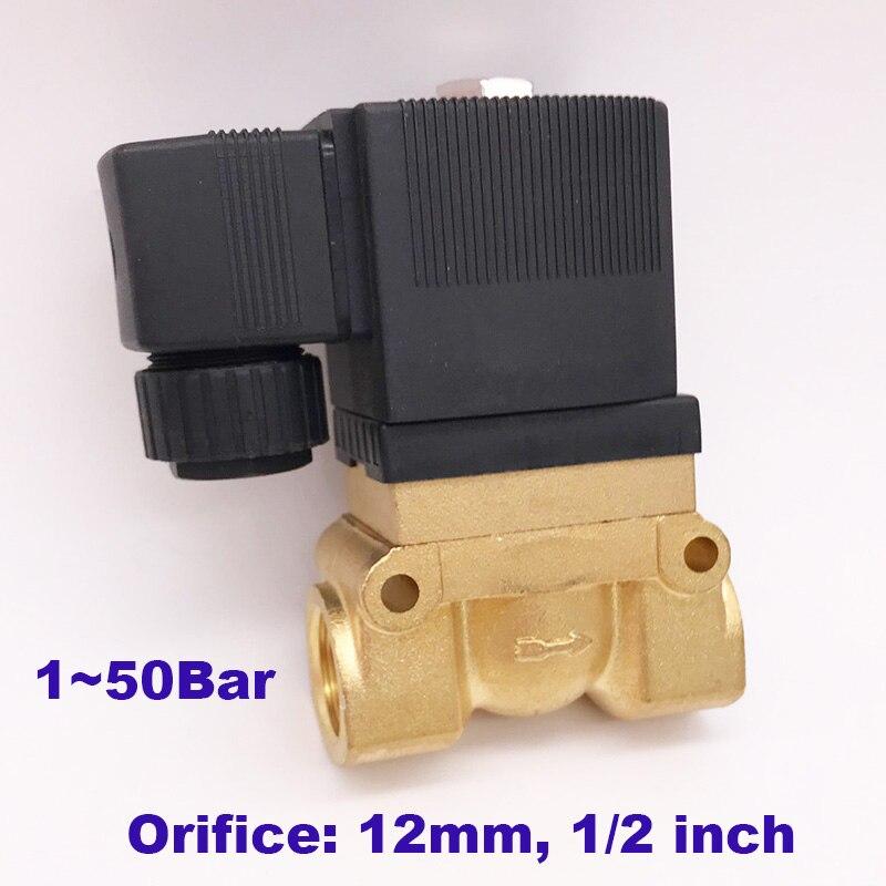 Sanitär Gogo Atc 50bar Hochdruck Hohe Temperatur Magnetventil 1/2 Bsp 24 V Dc Ac220v Öffnung 12mm Nc 5404-04 Pilot Messing Ventil Heimwerker