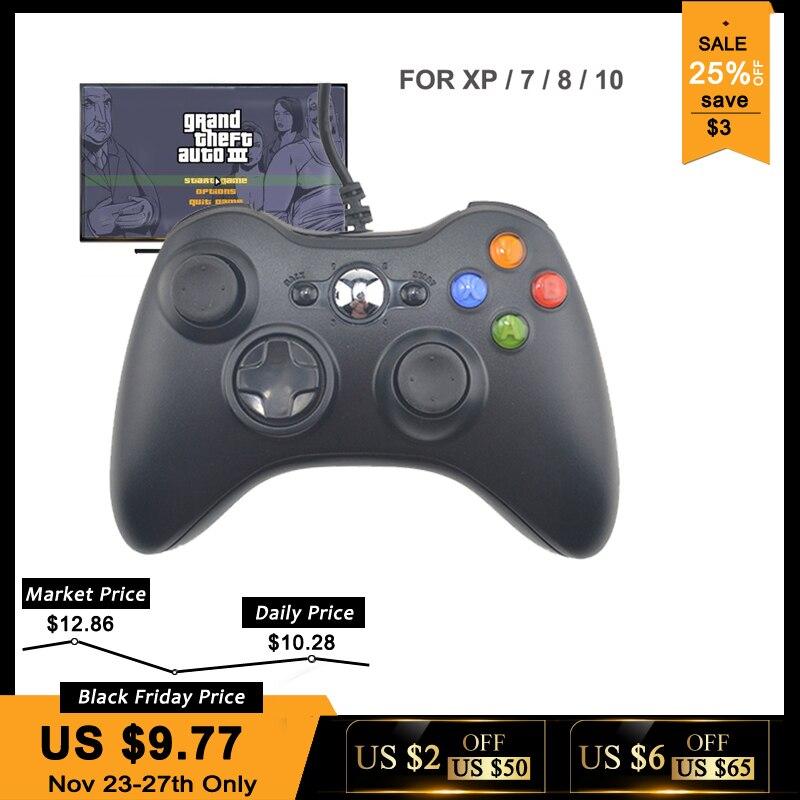 USB Wired Gamepad Joystick Para Xbox 360 360 Para O Sistema de Jogo PC Controlador Para Windows da Microsoft 7/8/10 não para Xbox Joypad